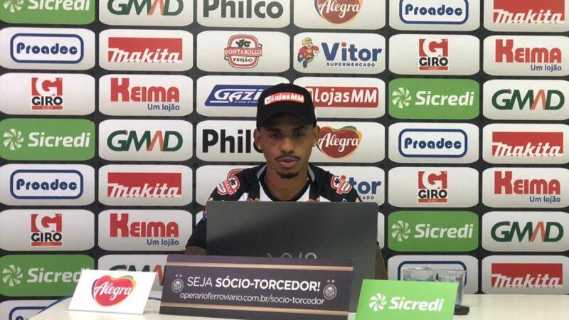 Atacante Diego Cardoso é apresentado em coletiva online