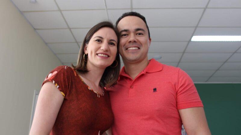 Edilene Santos Ogura e o capitão da PM, Fabian Borges Ogura