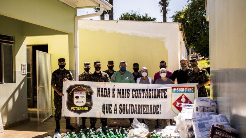 5º Esquadrão e Associação de Veteranos arrecadam mais de mil itens de higiene para Acolhimento São Vicente de Paulo