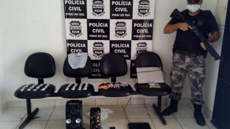 Polícia realiza apreensão de de pedras de crack em Piraí do Sul