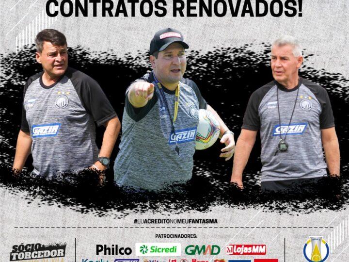 Matheus Costa e comissão técnica do Operário renovam contrato para temporada 2021