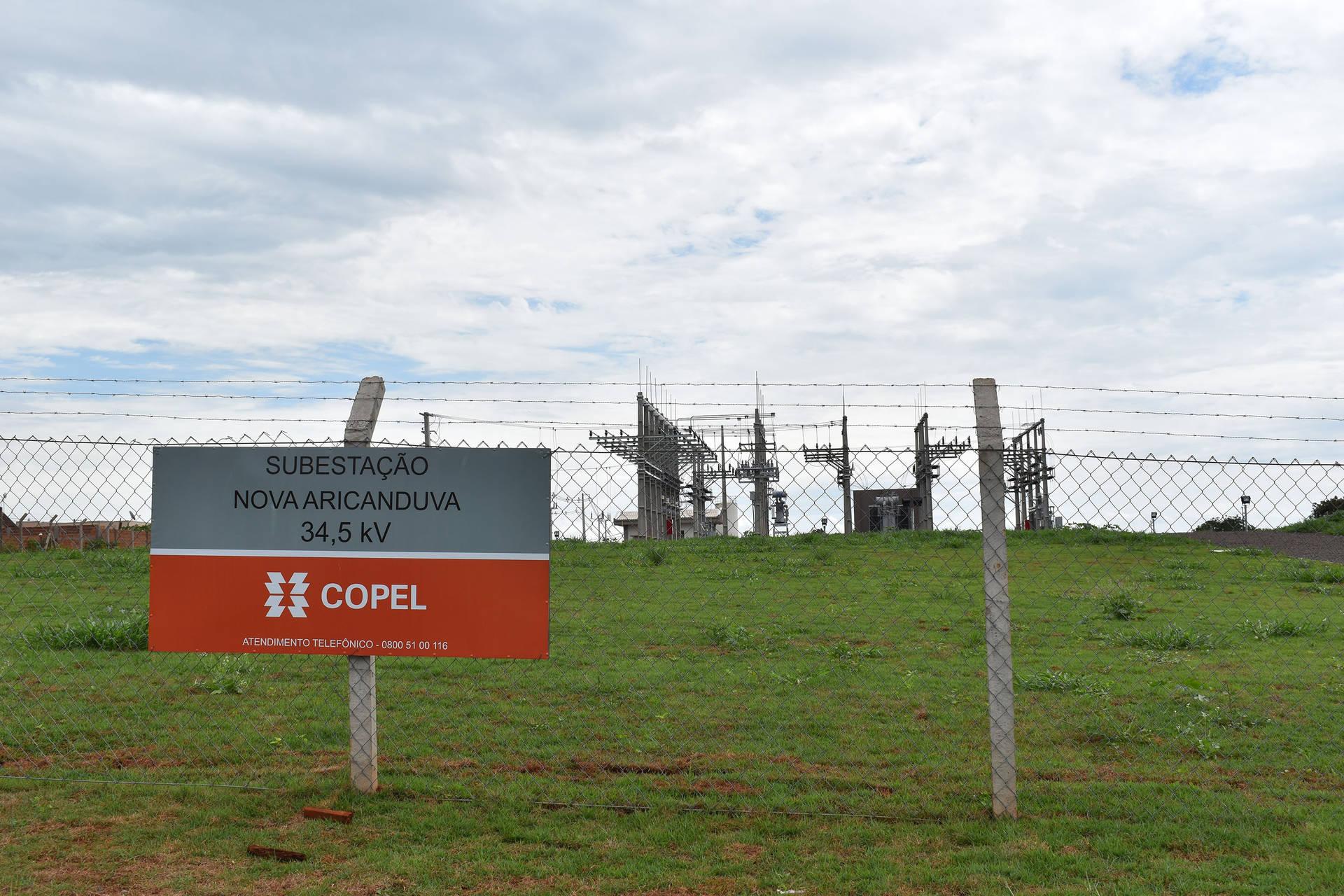 Copel investe R$ 4,4 milhões na nova subestação Aricanduva