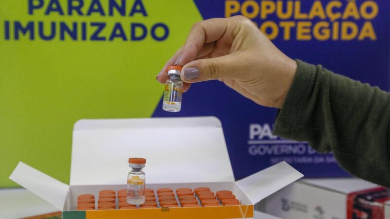 Paraná divulga dados da distribuição da vacina contra Covid