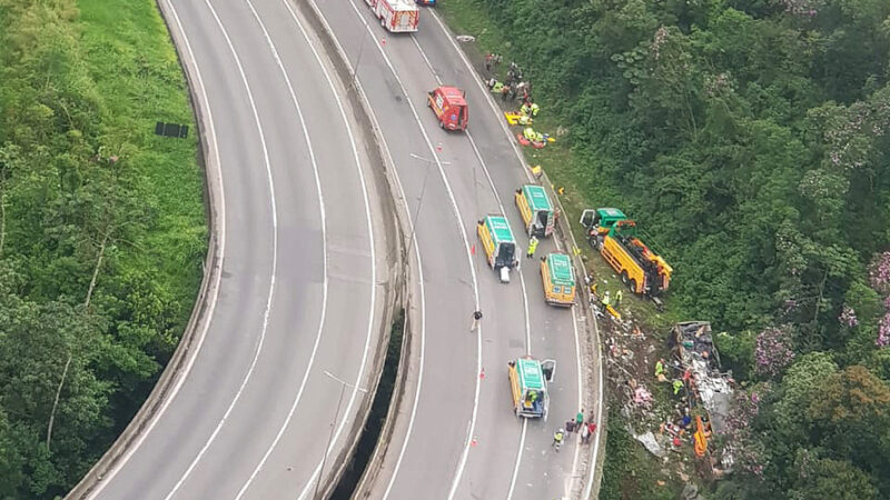 Segurança Pública se reúne com comitiva do Pará para tratar do acidente na BR-376 em Guaratuba