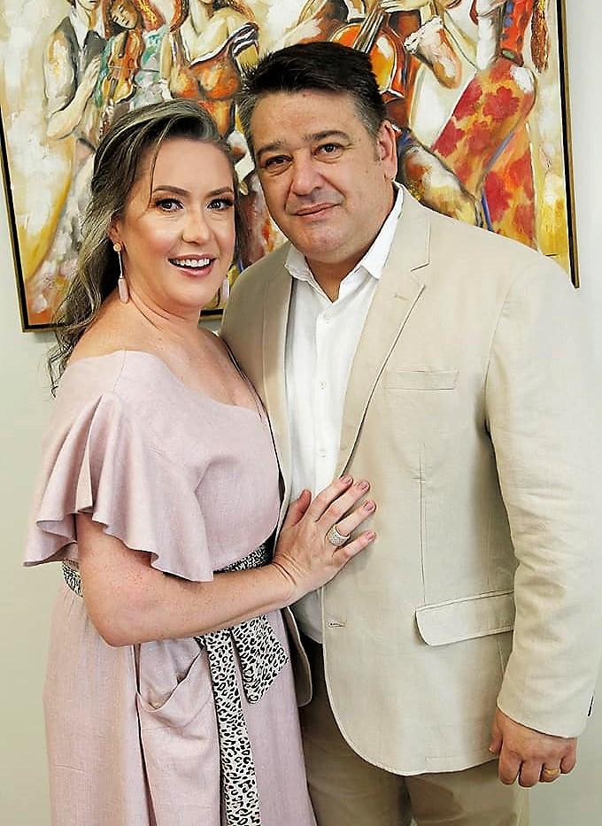 Casal Serginho Zadorosny e Paula Cosmoski Campagnoli