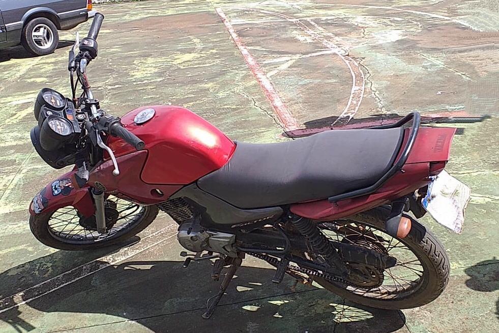 PM recupera moto furtada em Arapoti