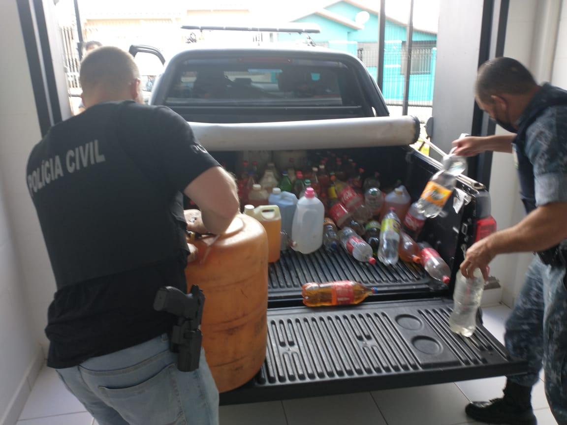 Polícia Civil de Castro prende em flagrante homem por suposta venda clandestina de combustível