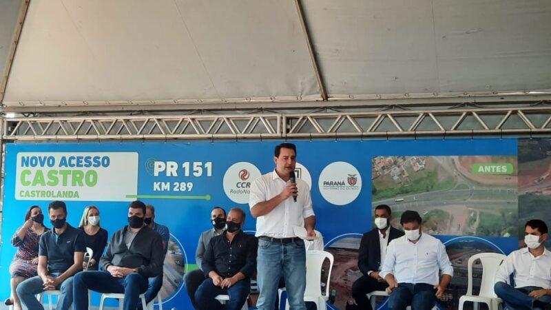 Governador Ratinho Júnior assina Ordem de Serviço para o início das Obras do Contorno Norte