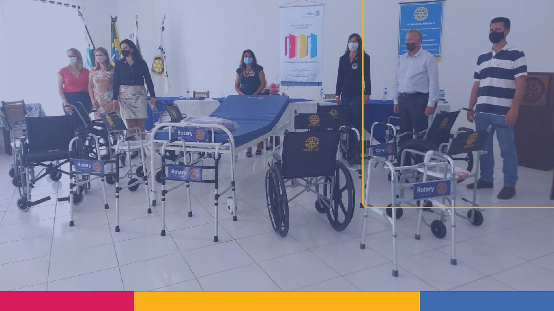 Rotary amplia projeto de Banco Ortopédico em Palmeira
