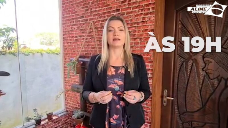 Deputada Aline Sleutjes faz SuperLive neste sábado sobre lockdown e tratamento precoce