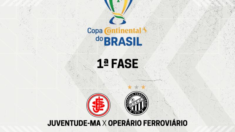 Operário enfrenta o Juventude-MA na primeira fase da Copa do Brasil