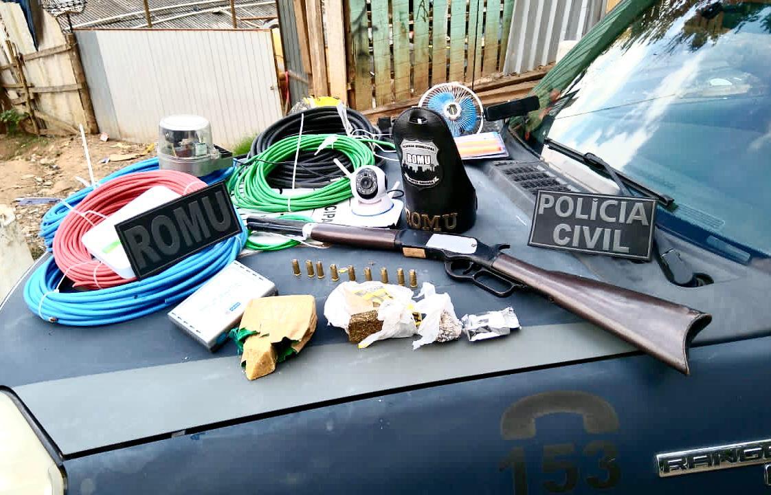 Polícia Civil e GM prende três por furtos de fios de cobre em PG