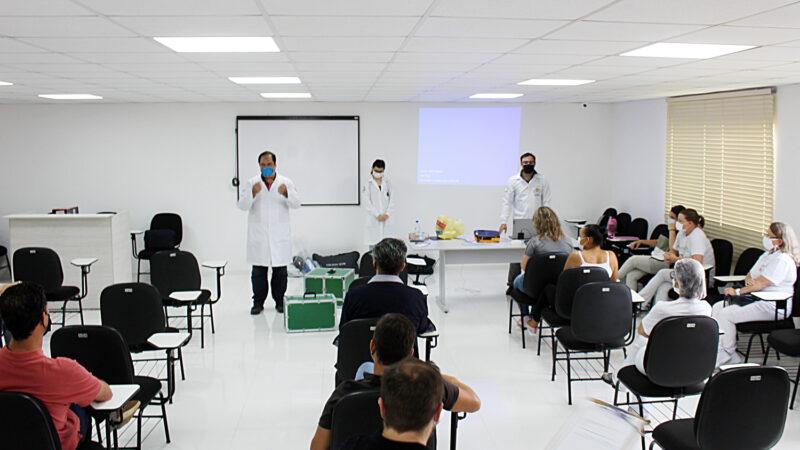 Profissionais da saúde participaram de treinamento para aperfeiçoar protocolo de atendimento da Covid-19 em Palmeira
