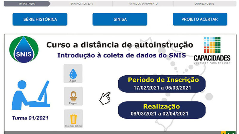 Estado orienta que municípios façam curso sobre saneamento