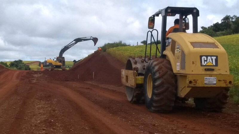 Obra de pavimentação da PR-239 entre Pitanga e Mato Rico é retomada