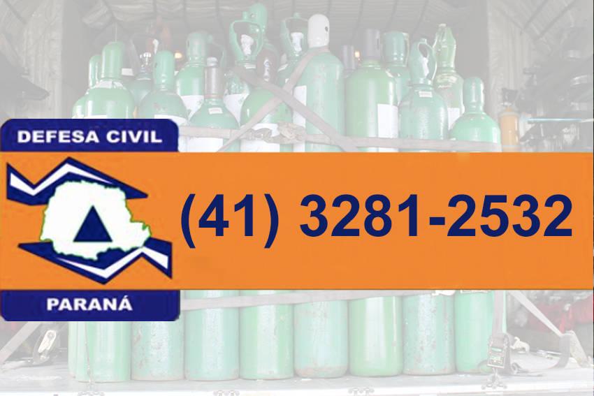 Defesa Civil disponibiliza telefone para receber doações de cilindros de oxigênio