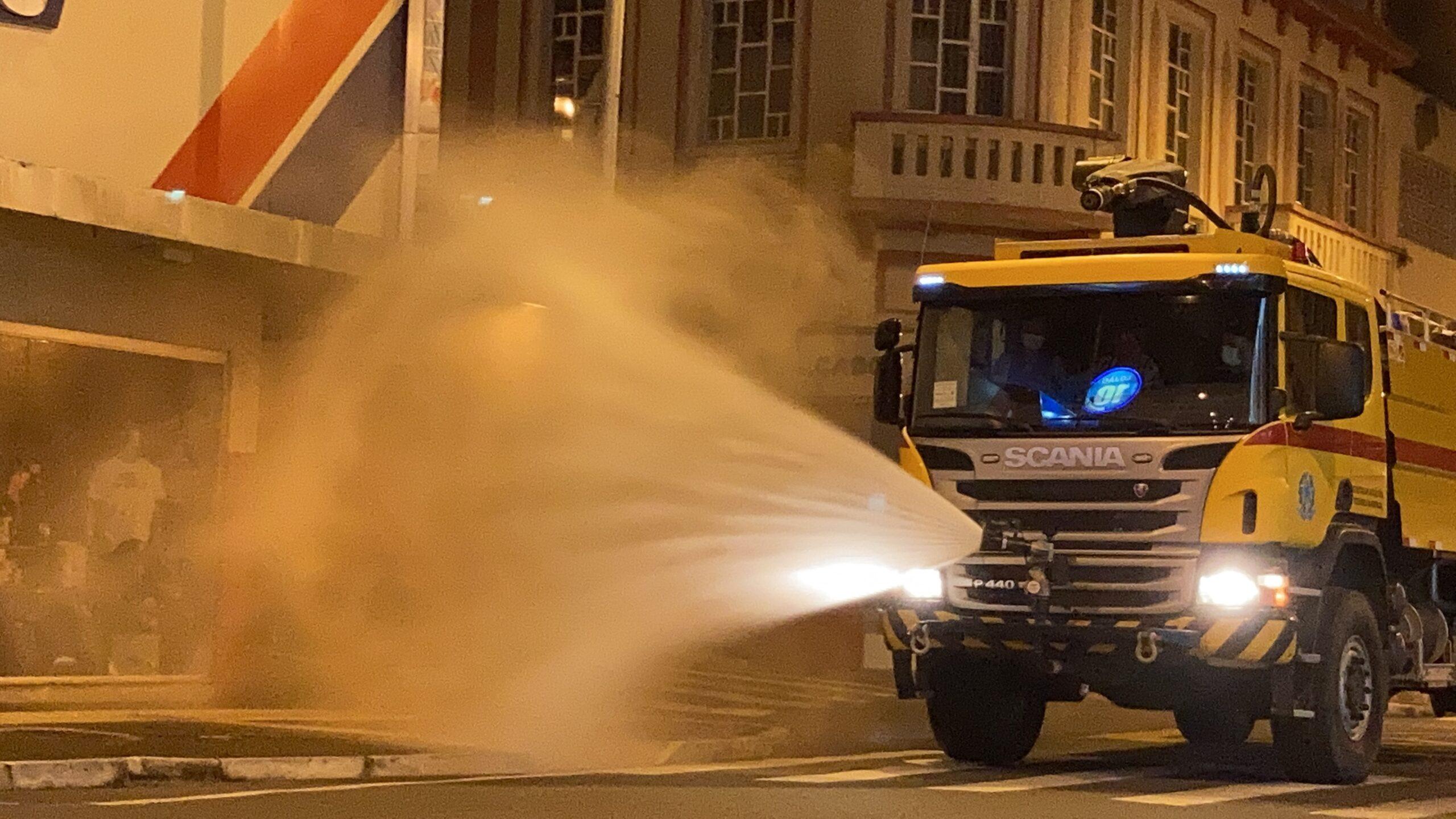Prefeitura de Ponta Grossa realiza sanitização para reabertura escalonada do comércio