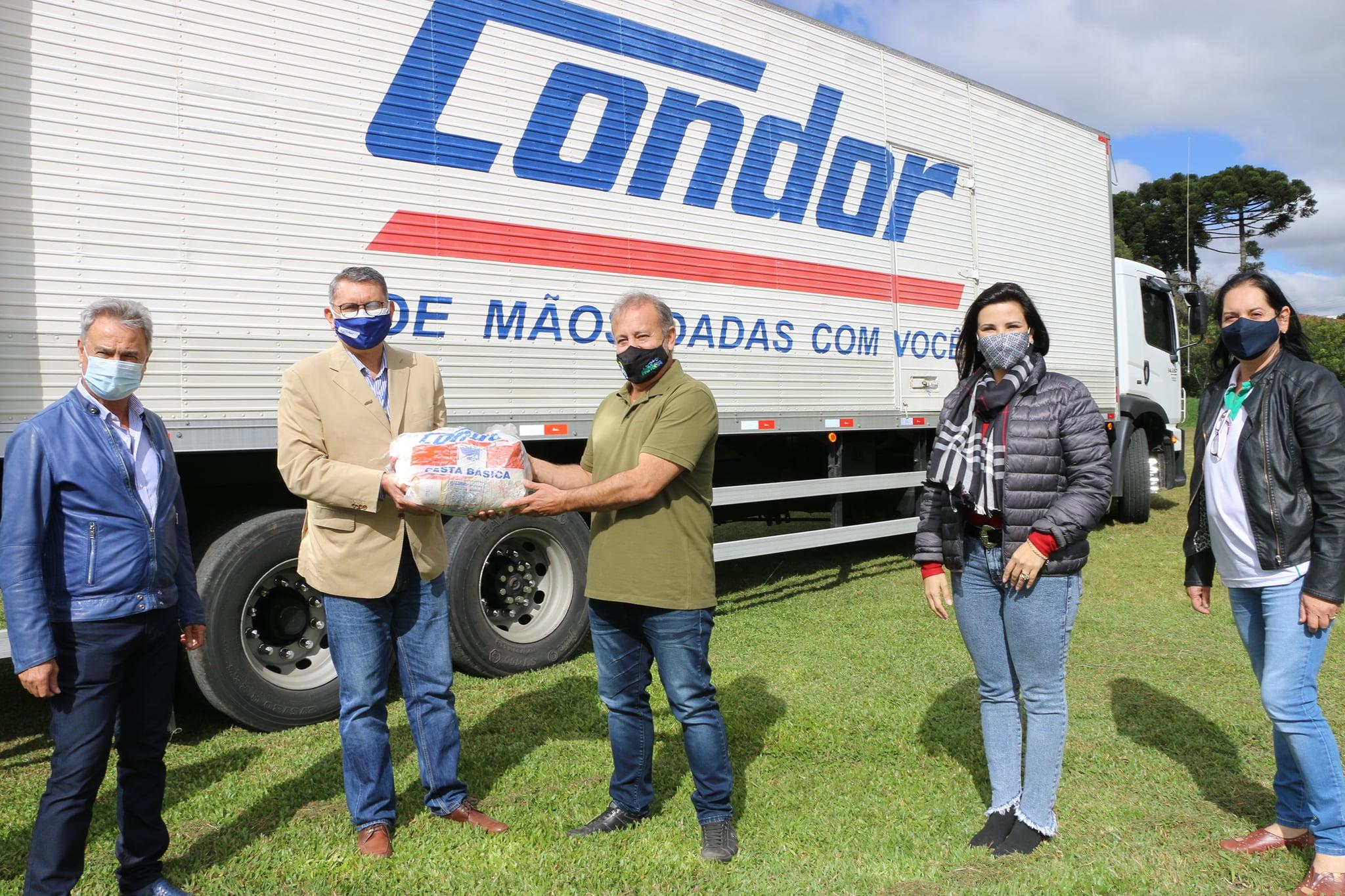 Prefeitura de Castro recebe seis toneladas de alimentos da rede Condor