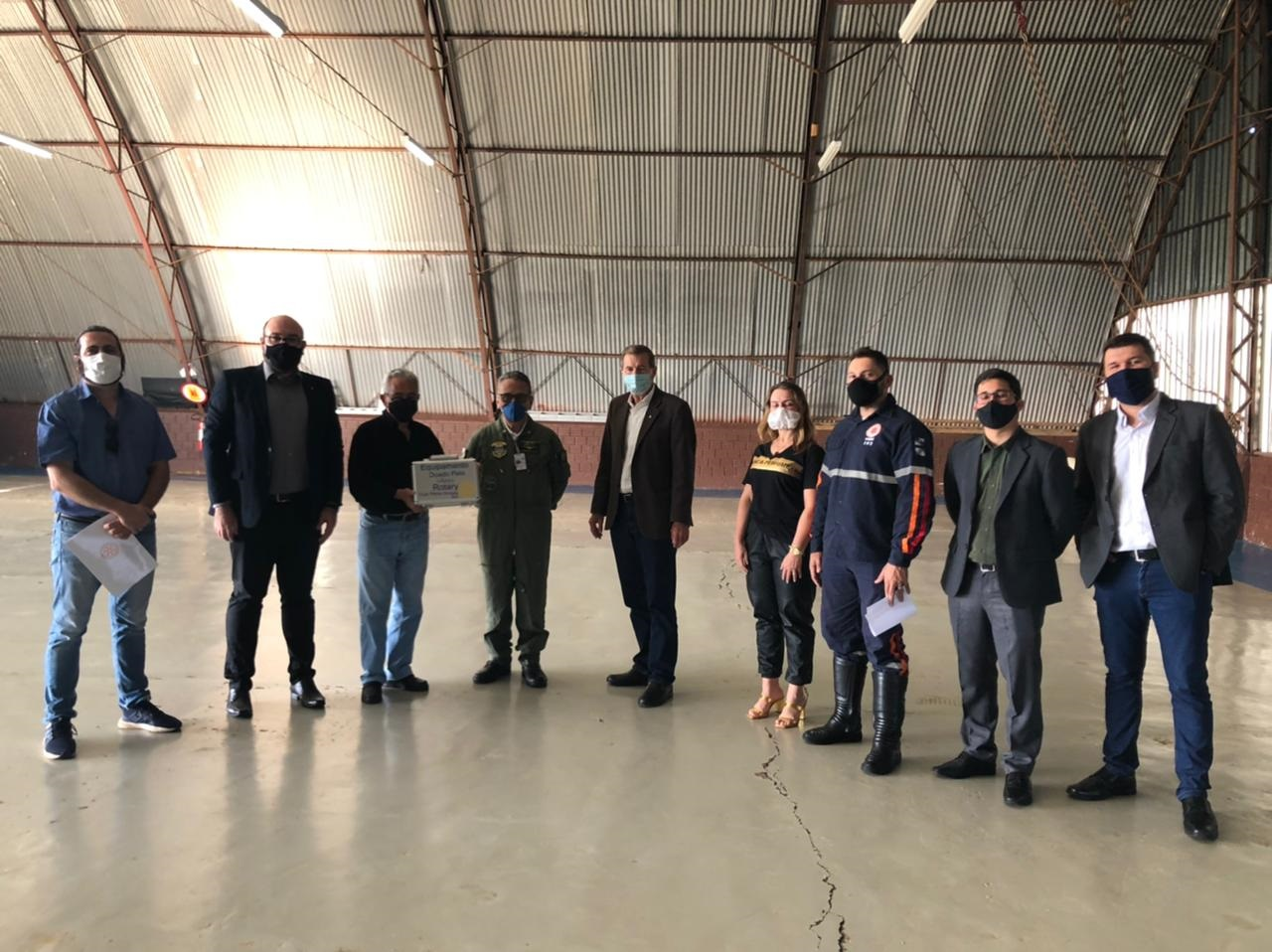 Aeromédico recebe equipamento que auxilia no atendimento de pacientes