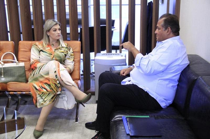Deputada Aline Sleutjes e líder Senador Eduardo Gomes alinham trabalho de articulação política para 2021