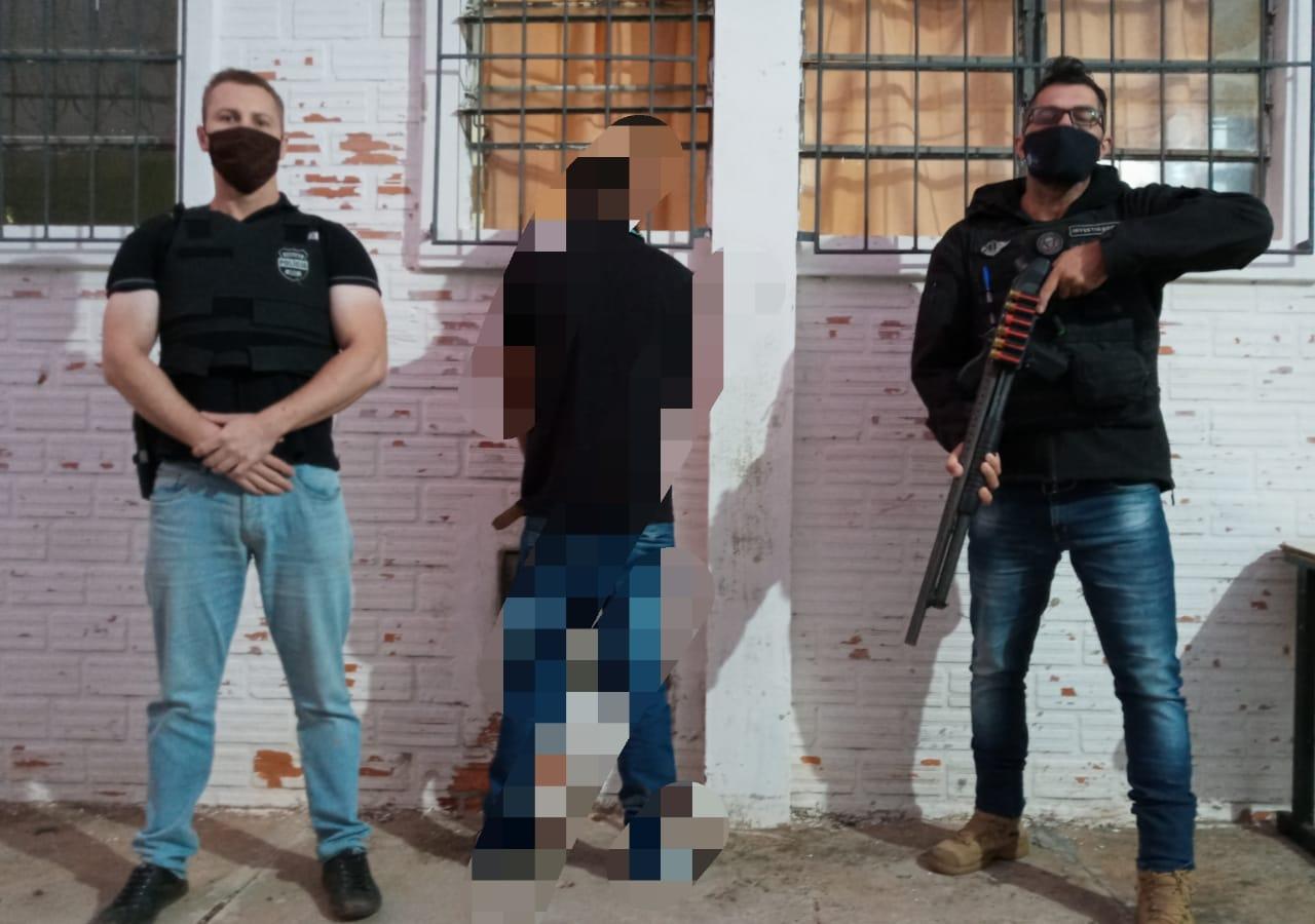 Polícia Civil de Castro prende nessa manhã único suspeito da morte de frentista