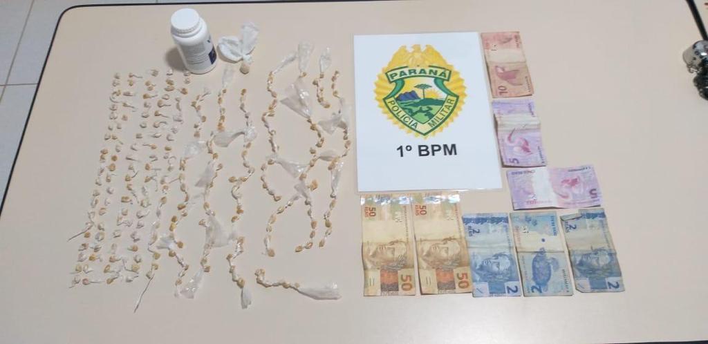 PM apreende 258 pedras de crack e desmonta ponto de venda no Arapongas