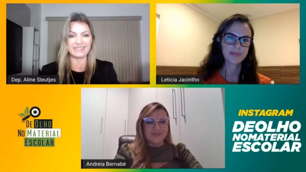 Deputada Aline realiza live 'De Olho no Material' que busca trazer a verdade sobre o Agro nos livros didáticos das escolas