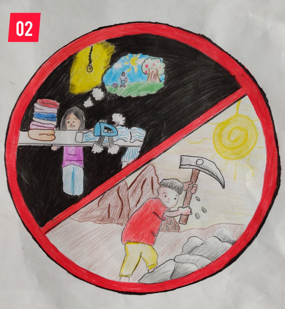 Concurso com o tema 'Trabalho Infantil' escolhe melhor desenho