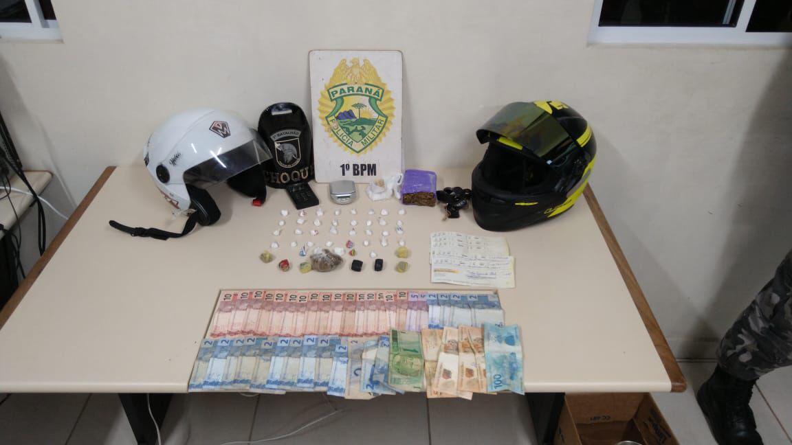 Dois são presos com drogas e dinheiro em PG