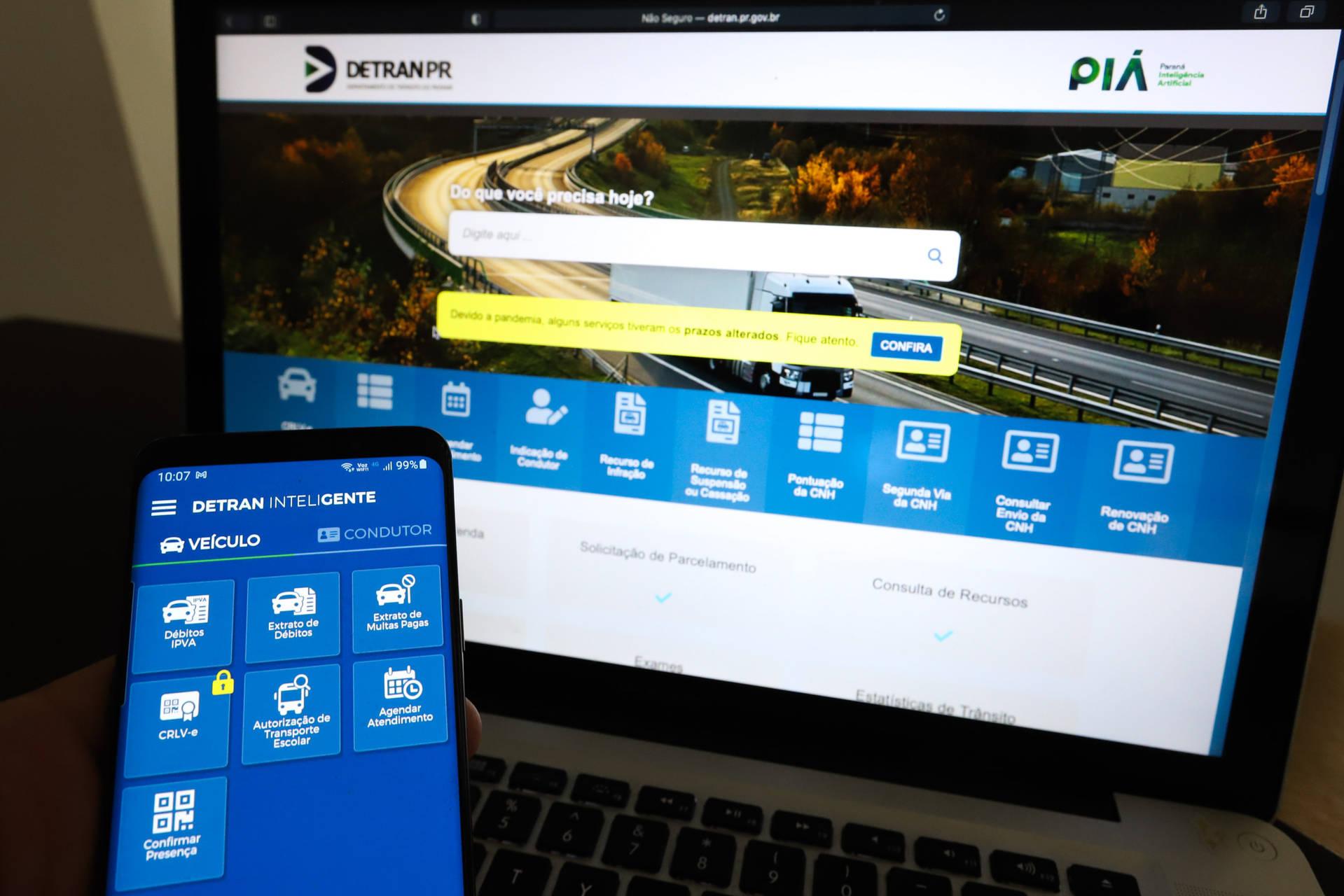 Atendimentos online do Detran/PR crescem quase 60% no primeiro trimestre