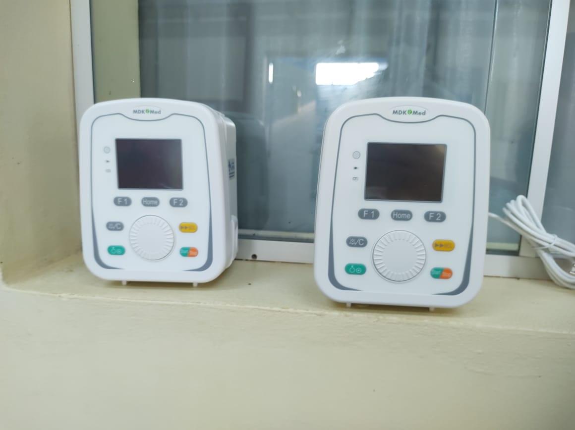 Secretaria de Saúde de Tibagi recebe bombas de infusão doadas pela Klabin
