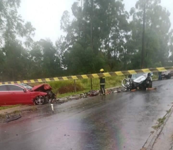 Colisão frontal mata motorista em Jaguariaíva