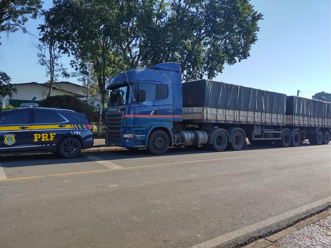 Caminhão roubado é recuperado no mesmo dia em Tibagi