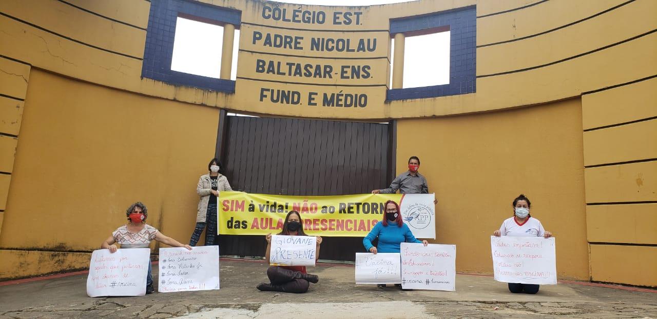 APP Sindicato promove ato em memória de professor vítima de Covid-19 em Castro