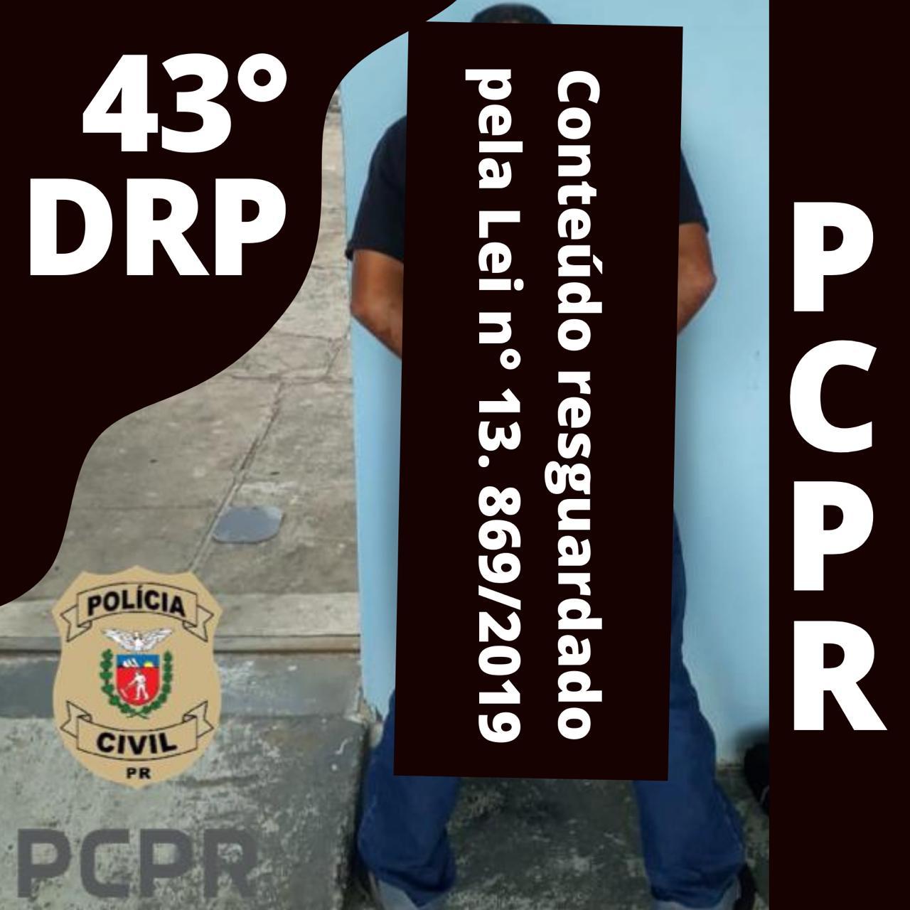Polícia Civil de Castro prende homem com extensa ficha criminal