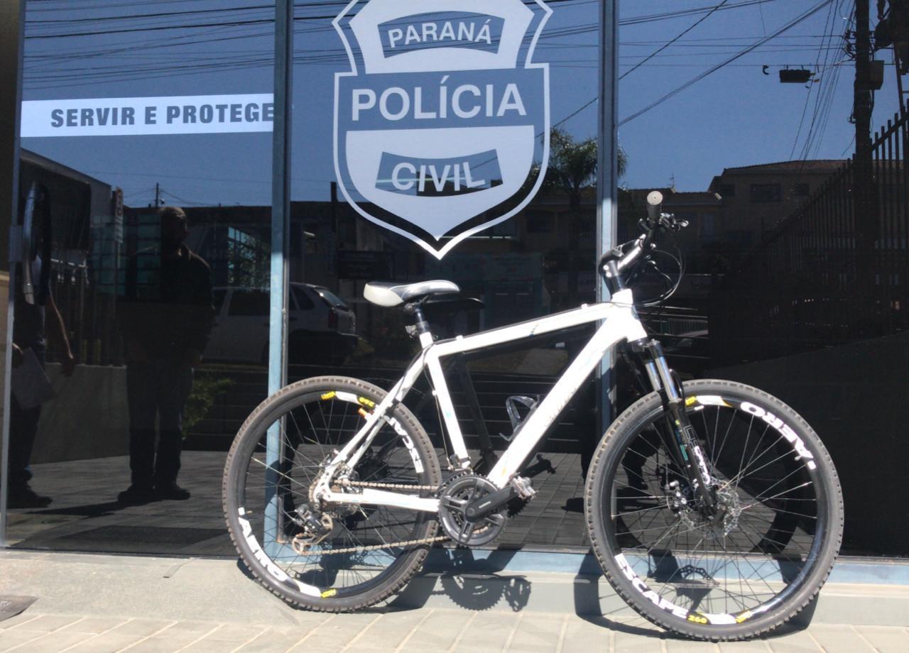 Polícia Civil recupera bicicleta no valor de R$ 3 mil