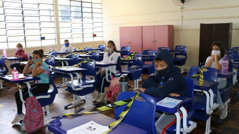 Alunos do 1º ao 3º ano retornam às aulas presenciais no dia 10 em Castro