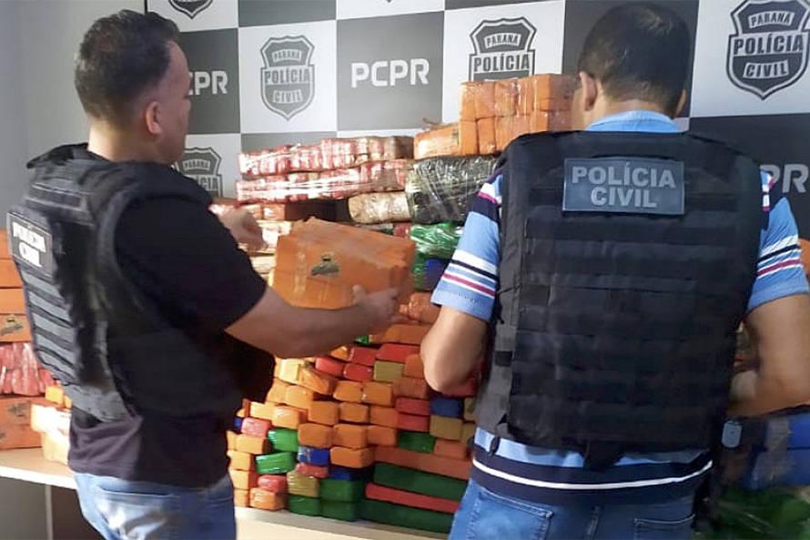Apreensões de drogas aumentam quase 150% no primeiro trimestre no Paraná