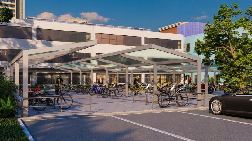 Assembleia ganhará novo bicicletário para estimular uso da bicicleta como meio de transporte
