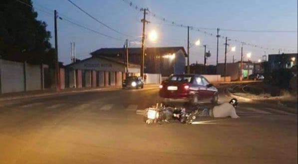 Motociclista fica ferido em acidente no Cantagalo