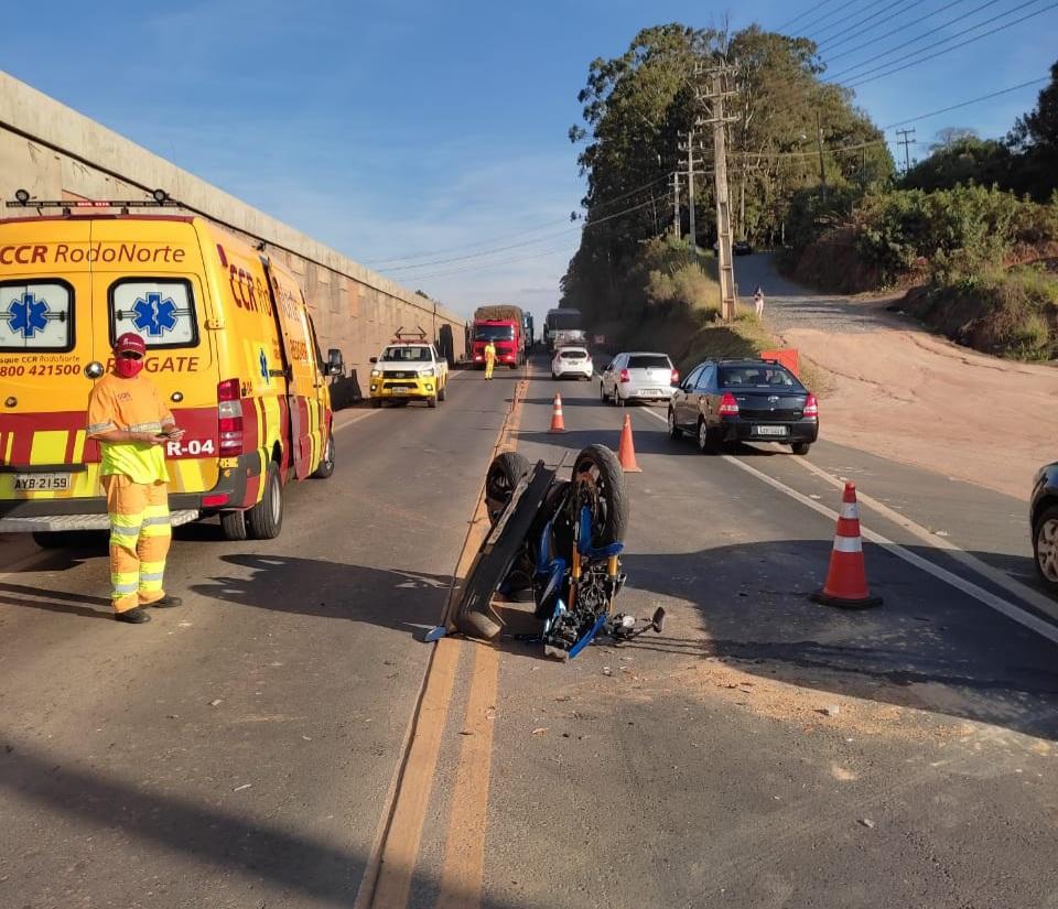 Motociclista fica ferido em colisão na PR-151
