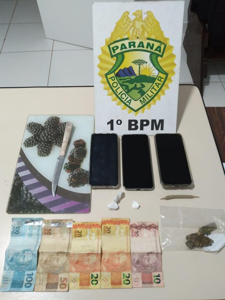 Dupla é detida por tráfico de drogas na Vila Rio Branco