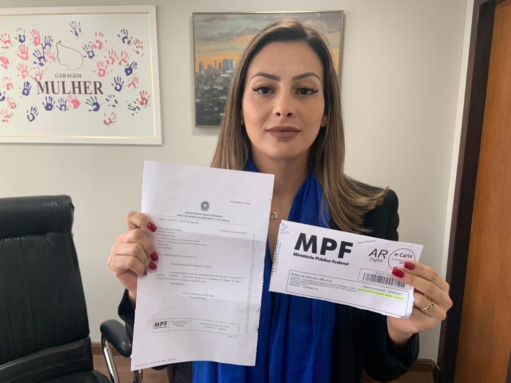 Mabel denuncia e MPF vai  investigar ato do Controlador Geral do Estado que revogou a suspensão das pedageiras
