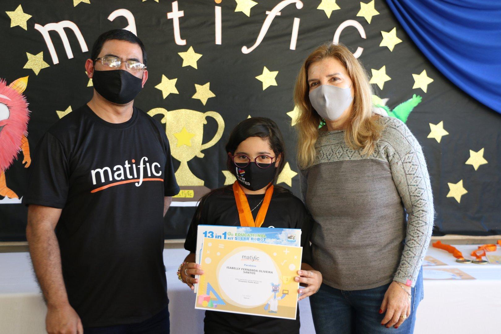 Escola Dalila Ayres conquista primeiro lugar geral na Olimpíada Matific