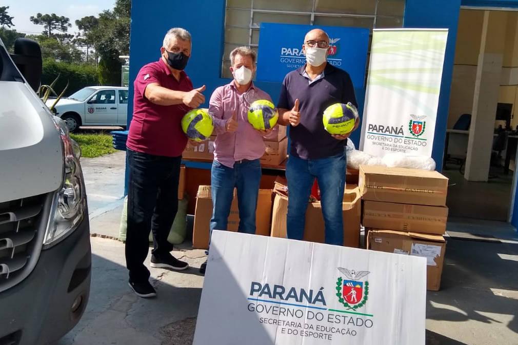 Paraná repassa materiais esportivos a municípios, associações, escolas e Apaes