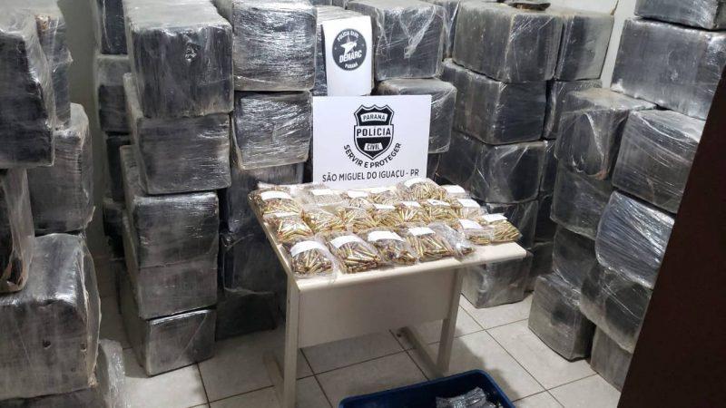 Polícia Civil apreende duas toneladas de maconha e munições do crime organizado