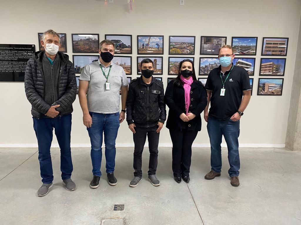 Engenheiros da Maltaria dos Campos Gerais visitam prefeita Elisangela Pedroso