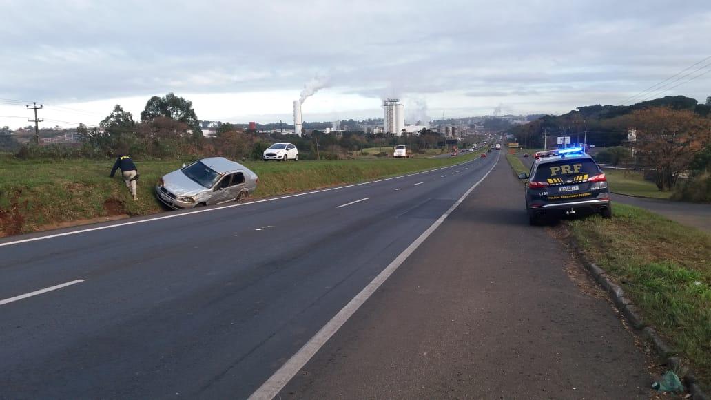 Duas mulheres ficam feridas em acidente na BR-376