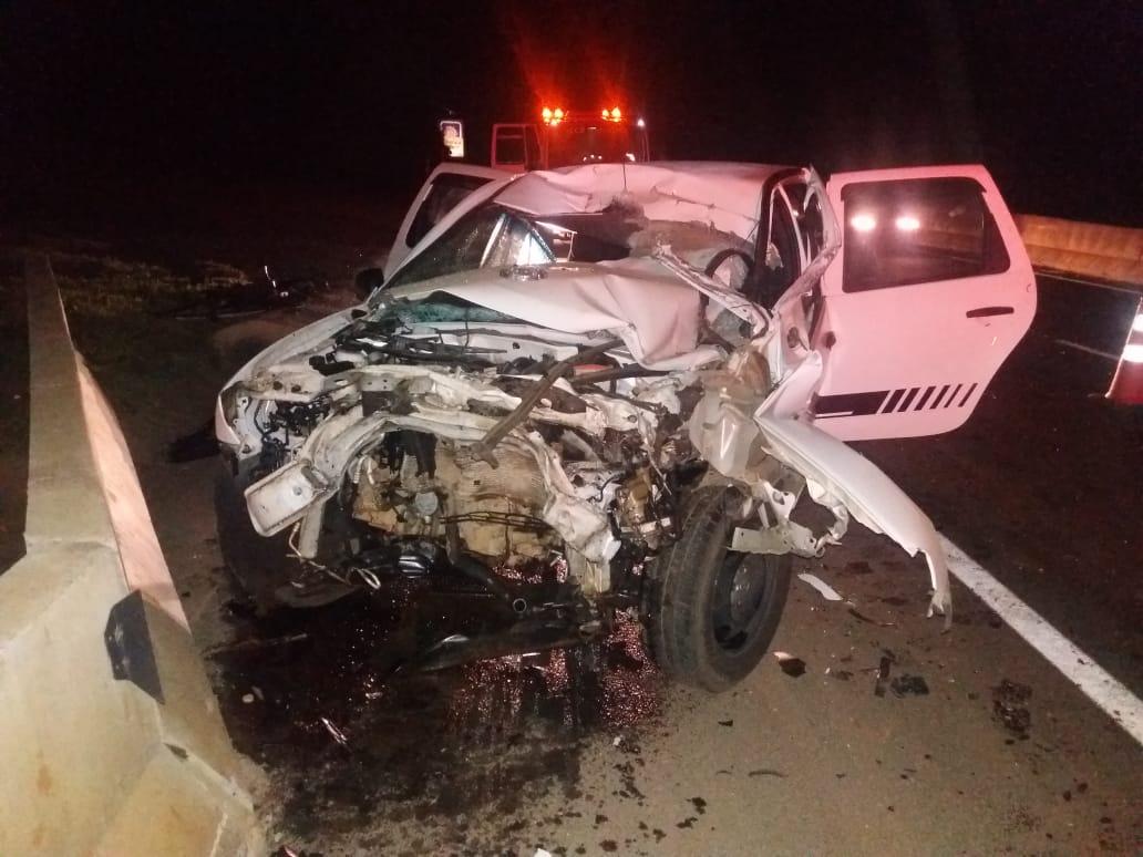 Motorista de Oroch colide com bitrem na BR-376 e fica em estado grave