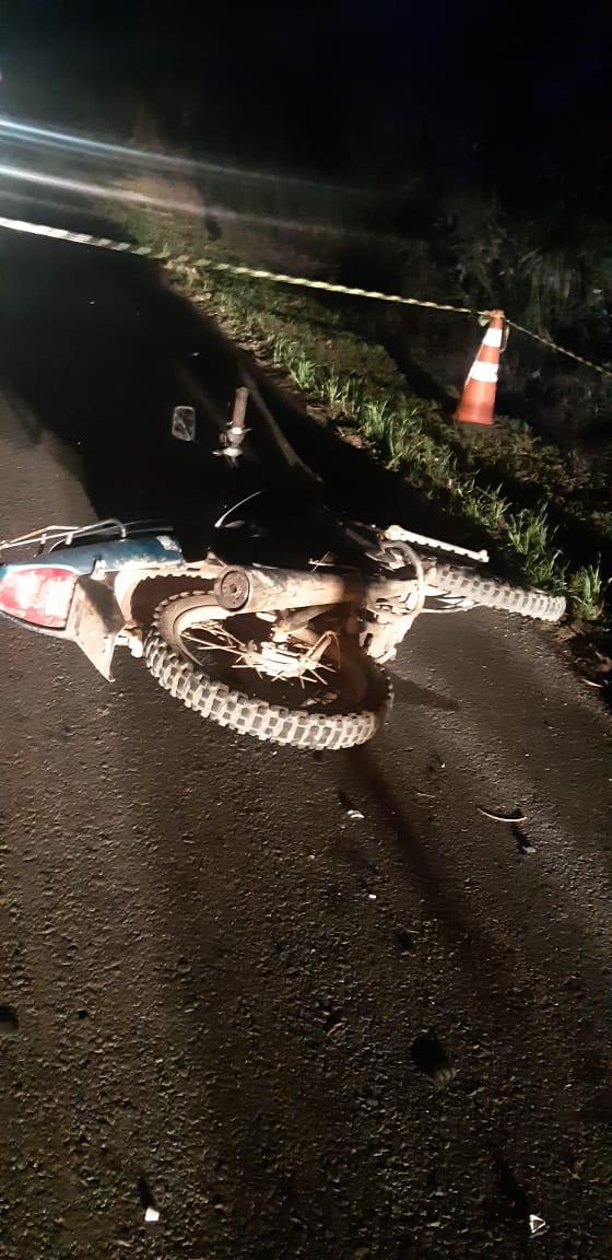 Homem morre atropelado por motocicleta na BR-373